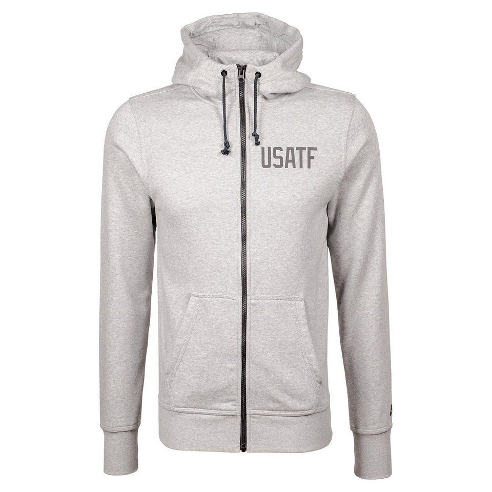 Nike Sportswear RU USATF Kapuzenjacke Herren in dunkelgrau / schwarz