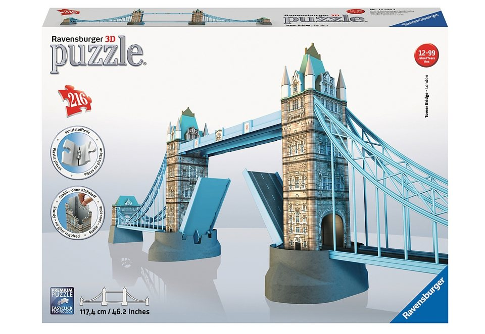 Ravensburger 3D Puzzle 216 Teile, »Tower Bridge«