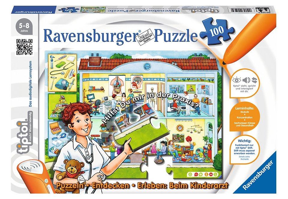 Ravensburger Puzzle 100 Teile, tiptoi®, »Beim Kinderarzt«