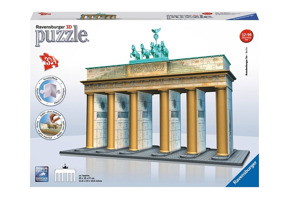 Ravensburger 3D Puzzle 324 Teile, »Brandenburger Tor«