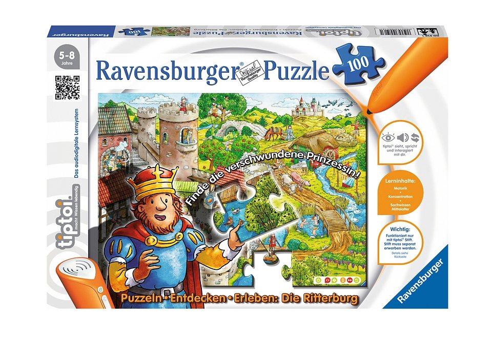 Ravensburger Puzzle 100 Teile, tiptoi®, »Burg«