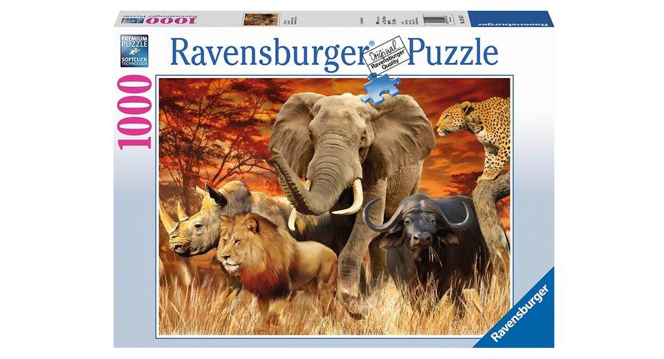 Ravensburger Puzzle 1000 Teile, »The Big Five«