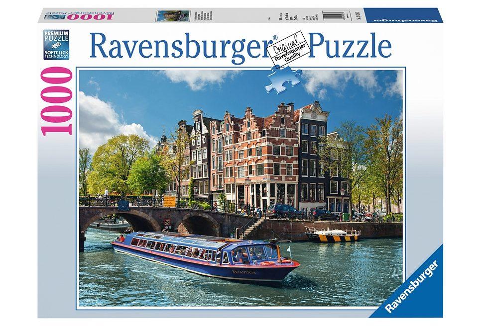 Ravensburger Puzzle 1000 Teile, »Grachtenfahrt in Amsterdam«