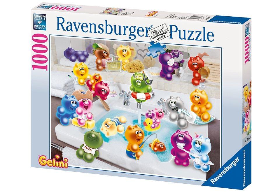 Ravensburger Puzzle 1000 Teile, »Gelini - Badespaß«