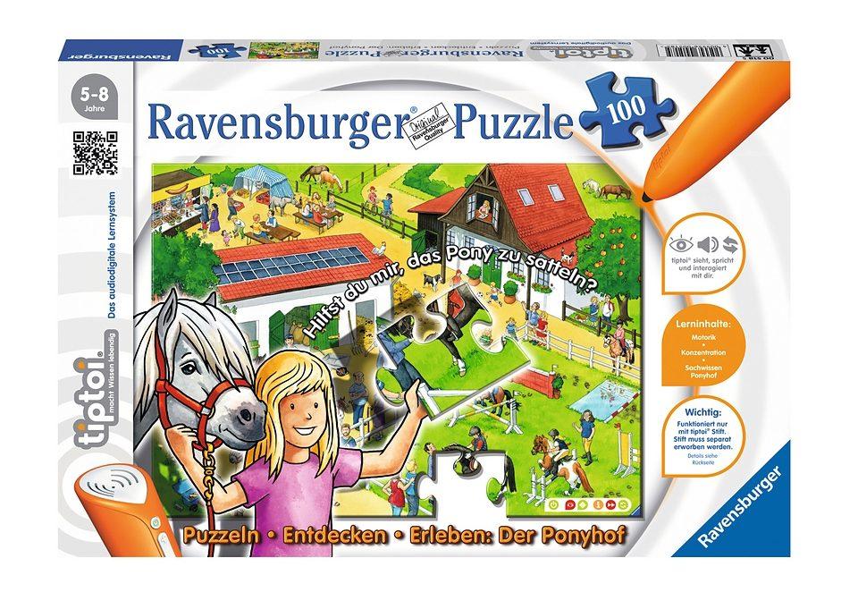 Ravensburger Puzzle 100 Teile, tiptoi®, »Der Ponyhof«