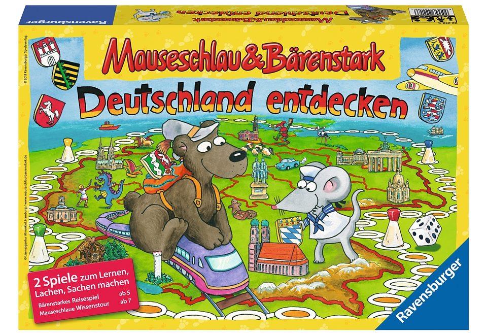 Ravensburger Quizspiel, »Mauseschlau & Bärenstark - Deutschland entdecken«
