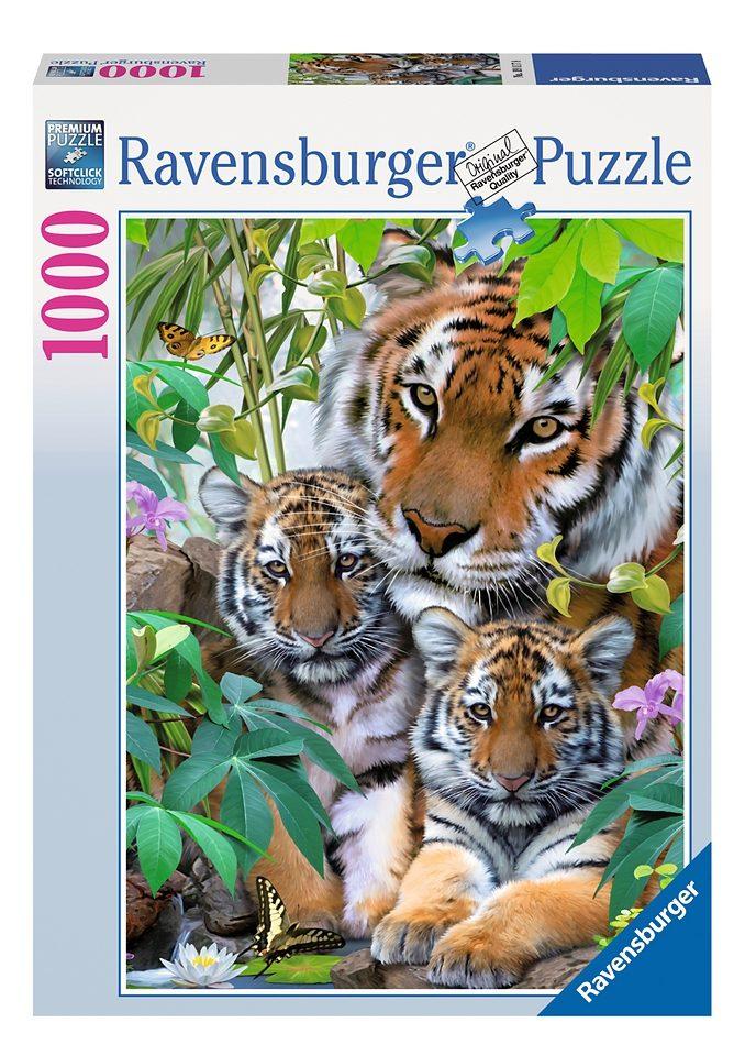 Ravensburger Puzzle 1000 Teile, »Tigerfamilie«