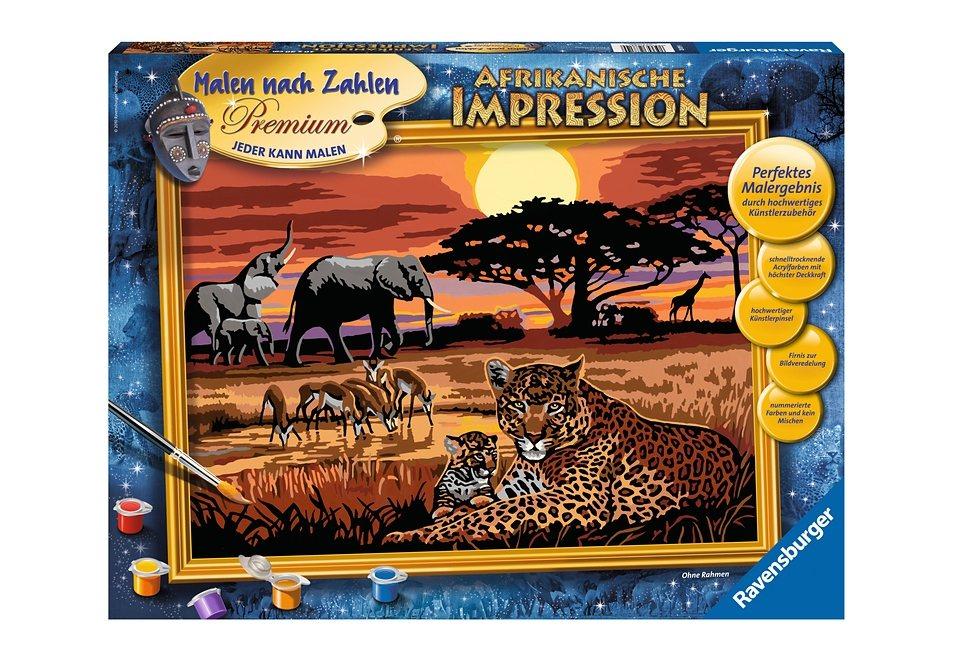 Ravensburger Malen Nach Zahlen Afrikanische Impression Online Kaufen Otto