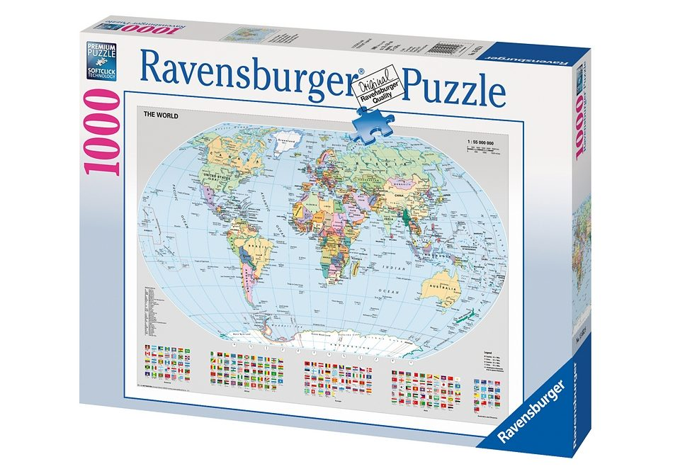 Ravensburger Puzzle 1000 Teile, »Politische Weltkarte«