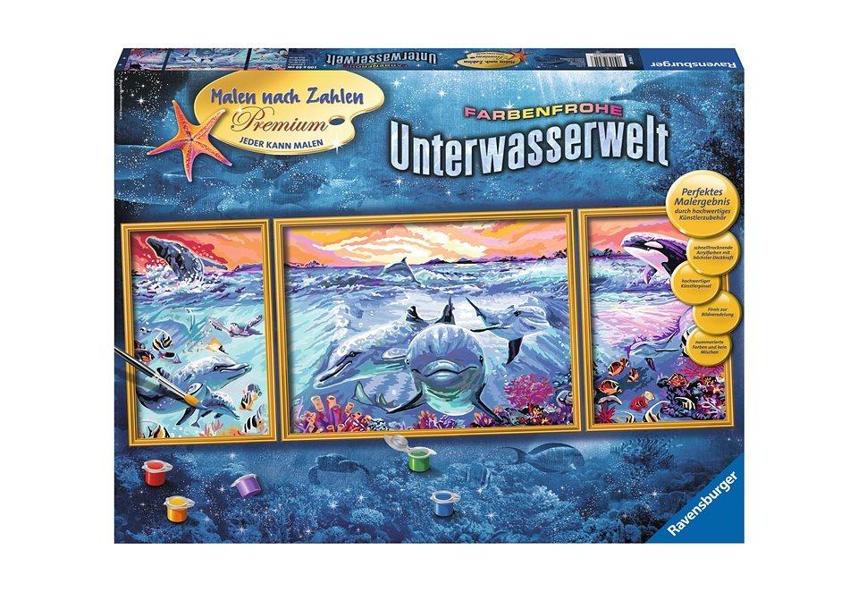 Ravensburger Malen Nach Zahlen Farbenfrohe Unterwasserwelt Online Kaufen Otto