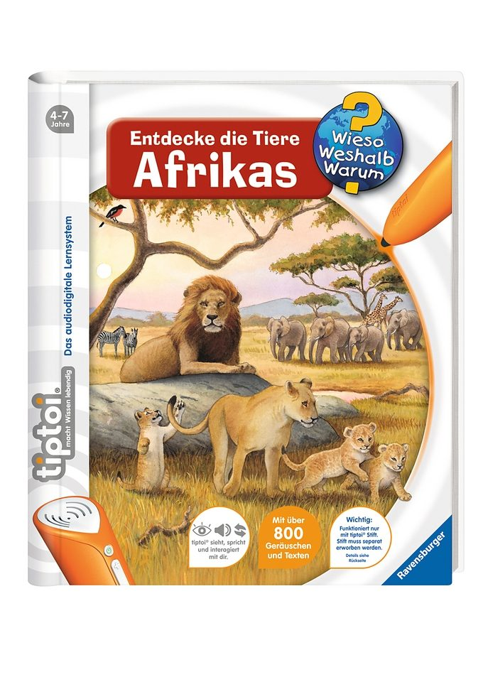 Ravensburger Buch, tiptoi®, »WWW - Entdecke die Tiere Afrikas«