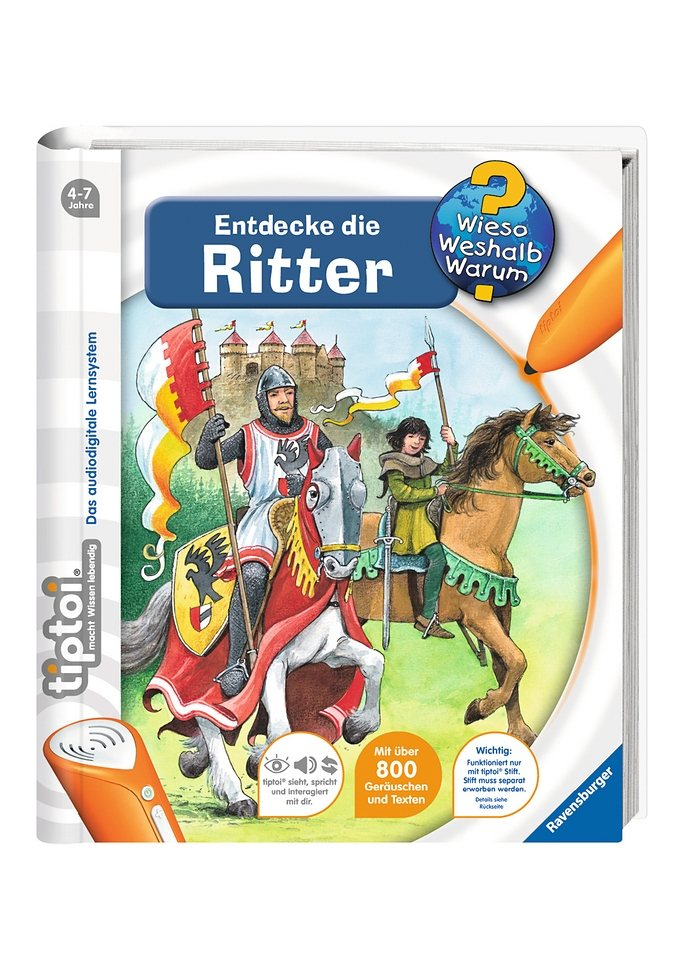 ravensburger buch tiptoi www entdecke die ritter online kaufen otto. Black Bedroom Furniture Sets. Home Design Ideas