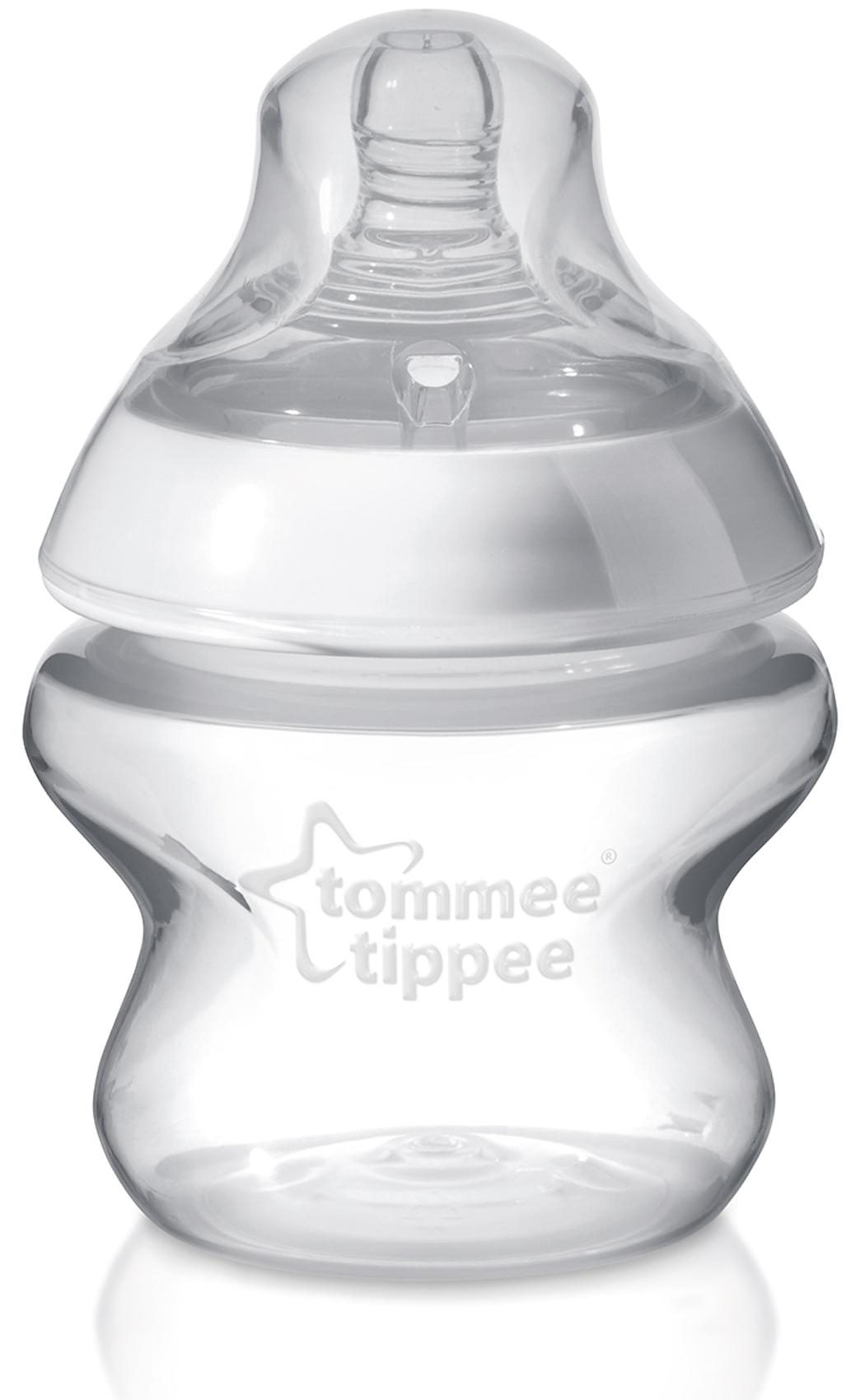 Tommee Tippee Weithals Flasche Closer to Nature, PP, 150 ml, Silikonsauger