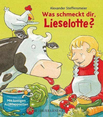 Buch mit Papp-Einband »Was schmeckt dir, Lieselotte?«