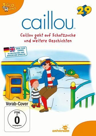 DVD »Caillou 29 - Caillou geht auf Schatzsuche und...«