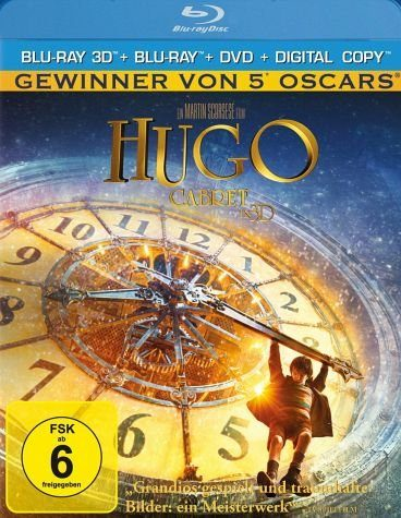 Blu-ray »Hugo Cabret 3D Blu-ray 3D + 2D + DVD + Digital...«