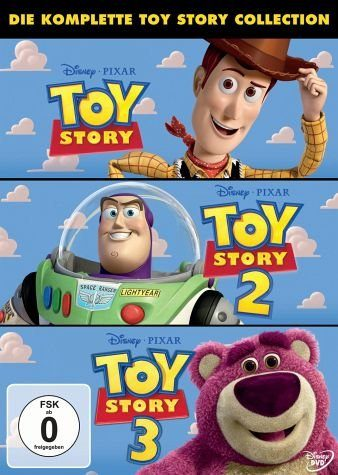 DVD »Toy Story 1-3, 3 DVDs«