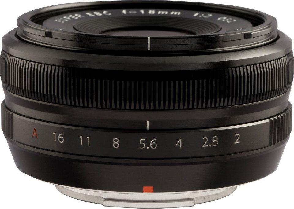 FUJIFILM FUJINON XF 18mm F2 R Festbrennweite Objektiv in schwarz