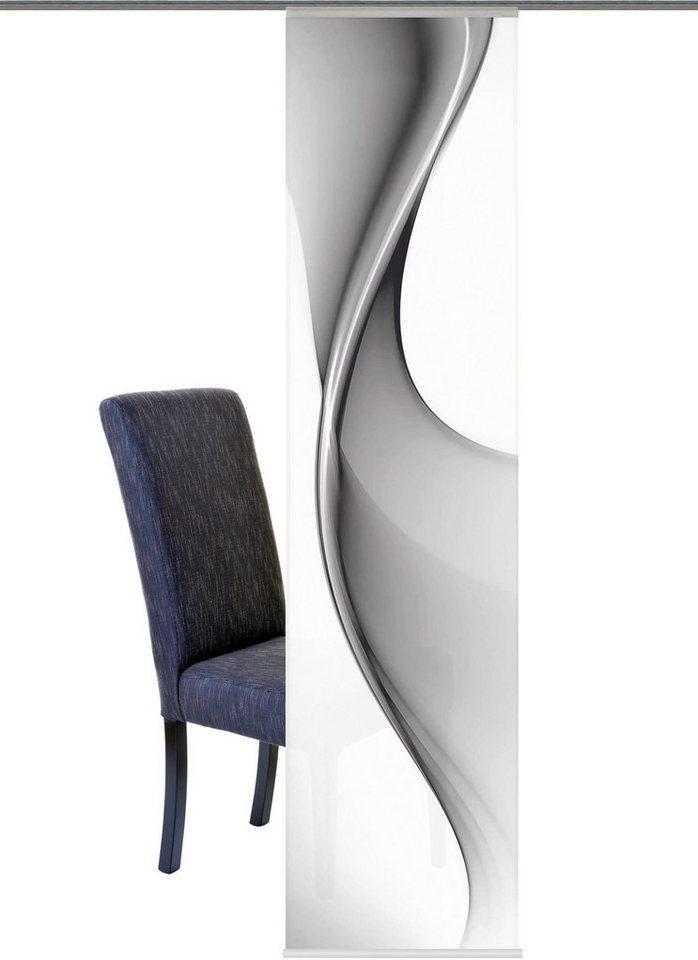 schiebegardine home wohnideen brakel mit klettband 1 st ck inkl zubeh r h he 245 cm. Black Bedroom Furniture Sets. Home Design Ideas
