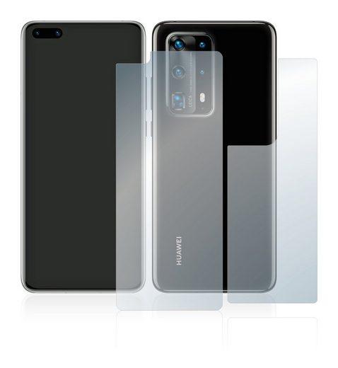 upscreen Schutzfolie »für Huawei P40 Pro (Vorder + Rückseite)«, Folie Schutzfolie klar antibakteriell