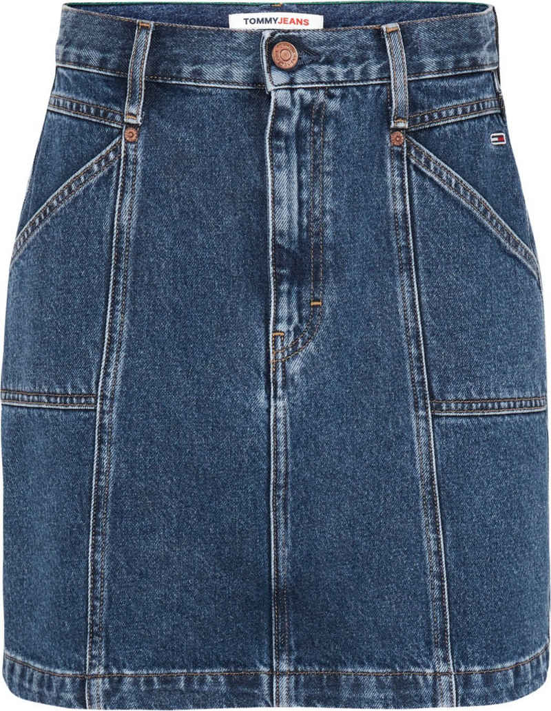 Tommy Jeans Jeansrock »MOM SKIRT K PCKT BE855 SVDBRG« mit großen Eingrifftaschen & Tommy Jeans Logo-Badge
