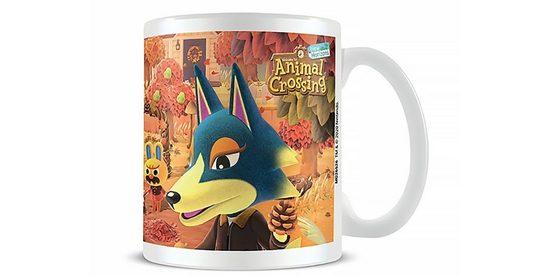 PYRAMID Tasse »Animal Crossing Herbst Tasse«, Porzellan, Spülmaschinen geeignet, Mikrowellen geeignet