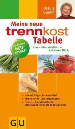 Broschiertes Buch »Meine neue Trennkost-Tabelle«