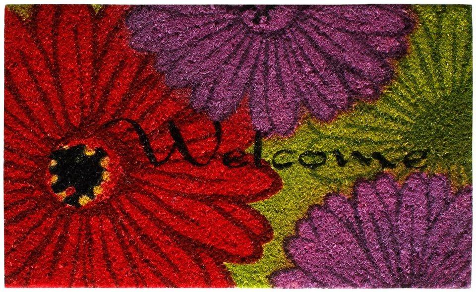 Fußmatte, Andiamo, »Lulu«, Kokos, rutschhemmend beschichtet in Blume