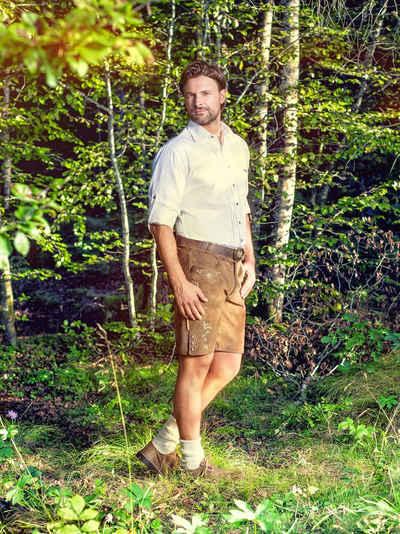 Almbock Trachtenhemd »Landhaushemd Laurentius« weiß