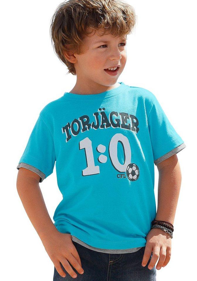 CFL T-Shirt mit Fußballmotiv in türkis