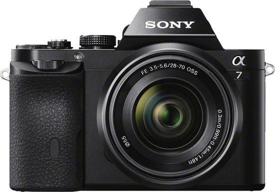 Sony »Alpha ILCE-7K« Spiegelreflexkamera (SEL-2870, 24,3 MP, WLAN (Wi-Fi), Videoaufnahme in Full HD (1080p)