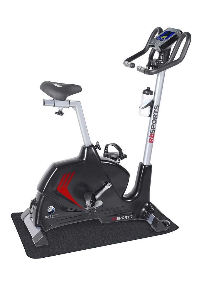 Heimtrainer-Ergometer-Set, inkl. Matte, »RB-Sports«, Royalbeach in schwarz-rot