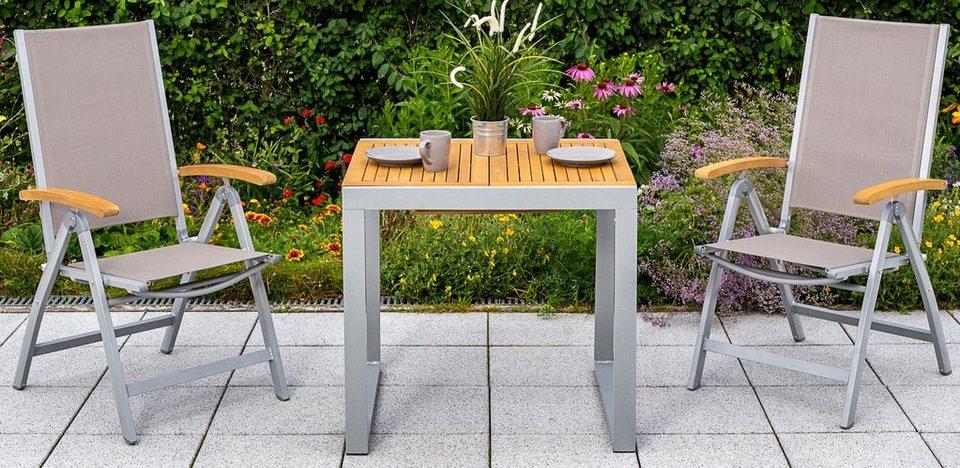 Merxx Gartentisch Naxos Eukalyptusalu Ausziehbar 120x70 Cm Natur Online Kaufen Otto