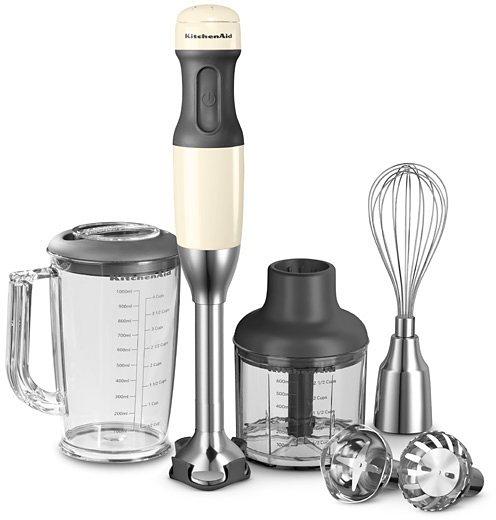 KitchenAid® Stabmixer 5KHB2571EAC, 180 Watt, 5 Stufen, creme in creme