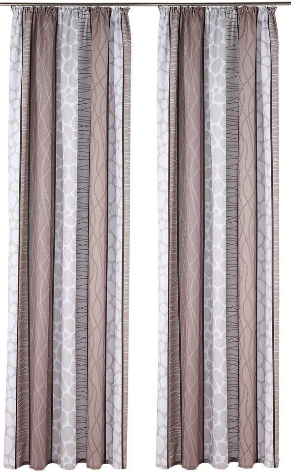 Vorhang, my home, »Gosen«(2 Stück) in grau-braun