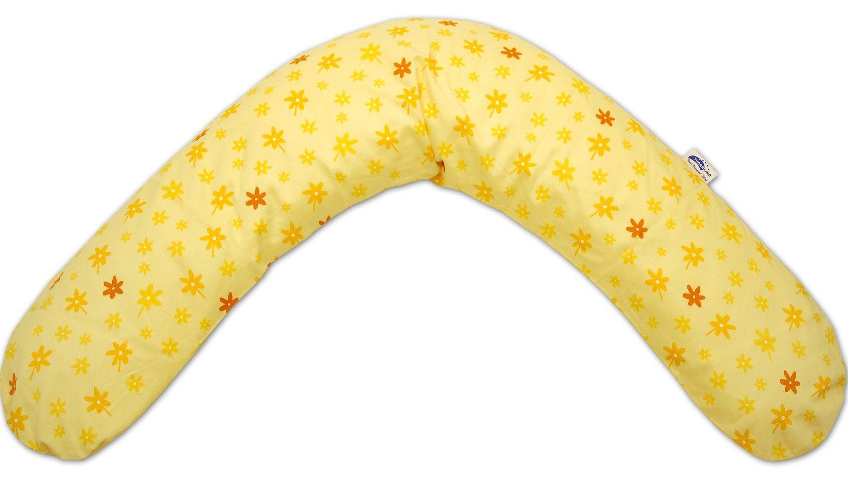 Theraline Bezug für Stillkissen, 190 cm, Blümchen gelb