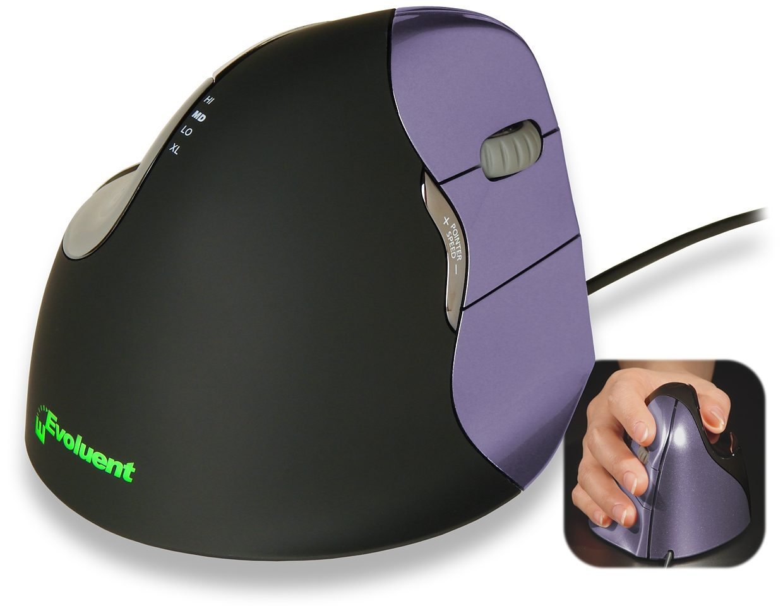 EVOLUENT Peripherie-Gerät »Vertical Mouse 4 Wireless Rechts Klein«