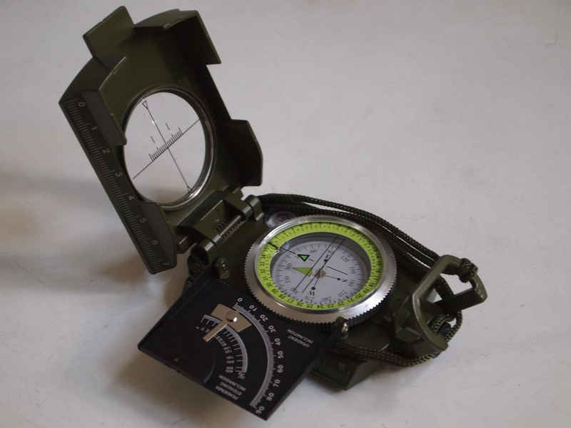 MARKENLOS Peilkompass »Militär Marsch - Army AC20 Kompass für Outdoor, Camping, Airsoft«