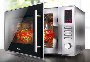 hanseatic premium line kombi mikrowelle mit hei luft und grill 30 liter garraum 900 watt. Black Bedroom Furniture Sets. Home Design Ideas