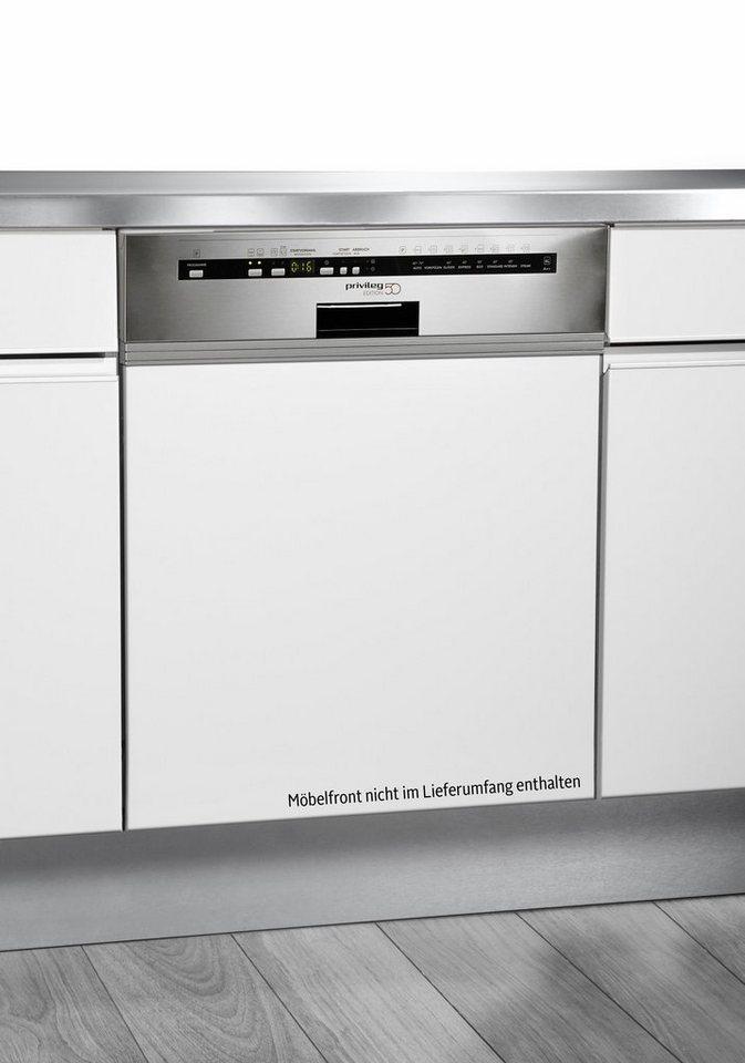 Privileg Teilintegrierbarer Einbau-Geschirrspüler PDSI Edition 50, A++, 6 Liter, 13 Maßgedecke in Edelstahl