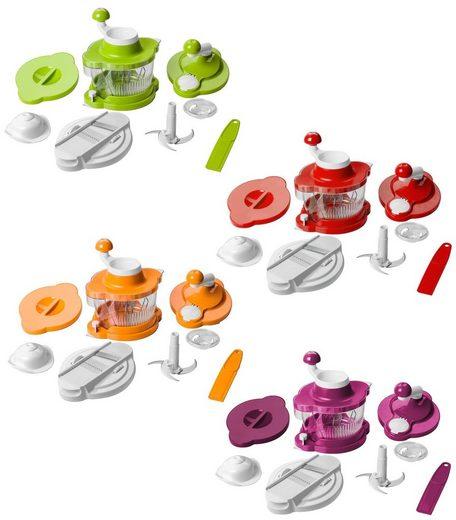 Genius Küchenreibe »Auswahl Genius Mixer Cutter Multitalent 10-tlg Küchenmaschine Rührgerät Auswahl: Himbeere«