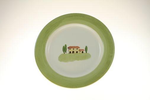 Zeller Keramik Speiseteller, flach (Mittedeko) »Bella Toscana« in Weiß