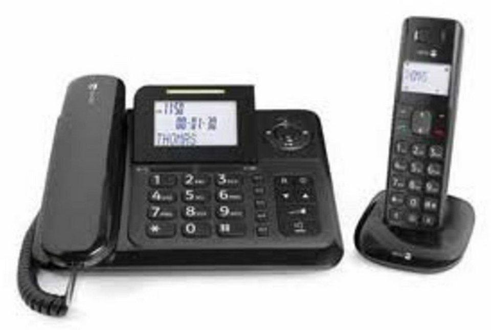 Doro Telefon analog schnurgebunden »Comfort 4005 Combo, Schwarz« in Schwarz