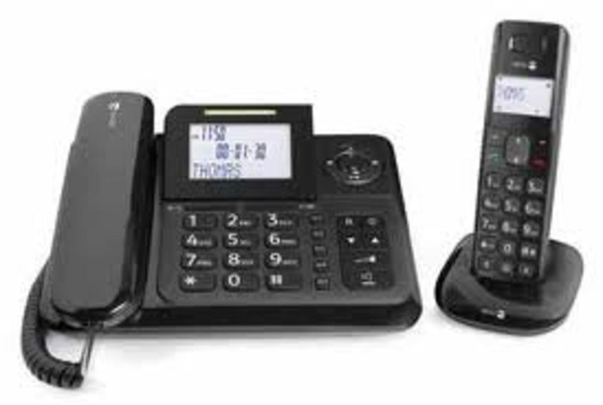 Doro Telefon analog schnurgebunden »Comfort 4005 Combo, Schwarz«