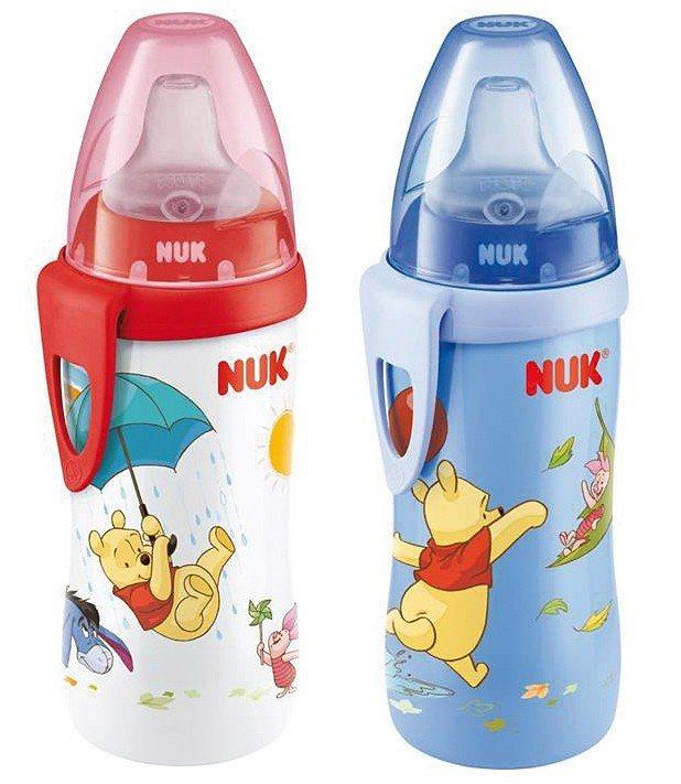 NUK Trinkflasche Active Cup, PP, 300 ml, Silikon-Trinktülle, Win in mehrfarbig