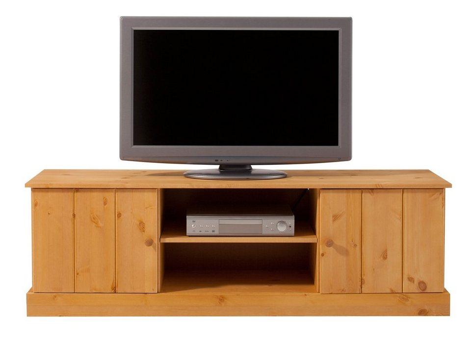 Lowboard, Home affaire, Breite 140 cm in gelaugt/geölt