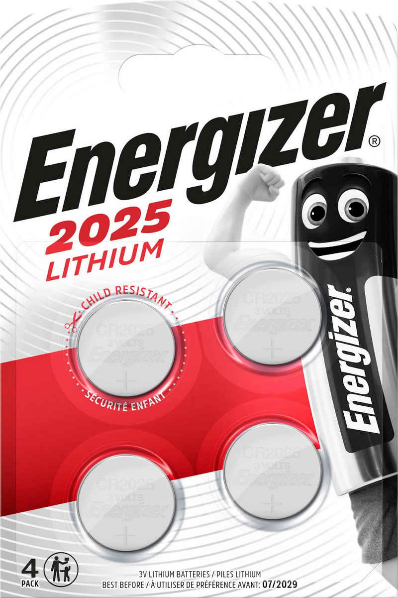 Energizer »CR2025 Knopfzelle 4x« Knopfzelle, CR2025 (3 V)