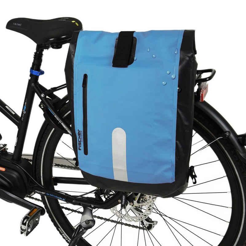 FISCHER Fahrräder Fahrradwerkzeugset »Gepäckträger-Tasche + Fahrrad-Rucksack«, Wasserdicht, als Rucksack oder Fahrrad-Tasche verwenbar, Volumen 23L, einfache Befestigung am Gepäckträger mit Haken, auch für E-Bike geeignet