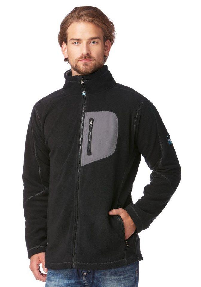 Polarino Fleecejacke in Schwarz