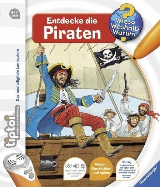Buch mit Papp-Einband »Entdecke die Piraten / Wieso? Weshalb? Warum?...«